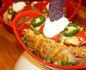 Chicken Nacho Stuffed Potato