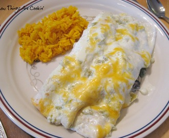 Weekend Recipe Review - Creamy Chicken Enchiladas