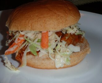 Pulled Pork Sliders with Creamy Coleslaw