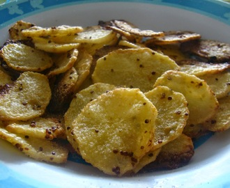 Chips de pommes de terre moutarde-citron (chips au four !)