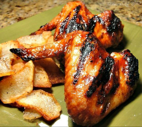 Sweet and Spicy Grilled Chicken Wings