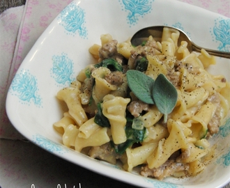 Pumpkin Pasta with Sausage and Sage