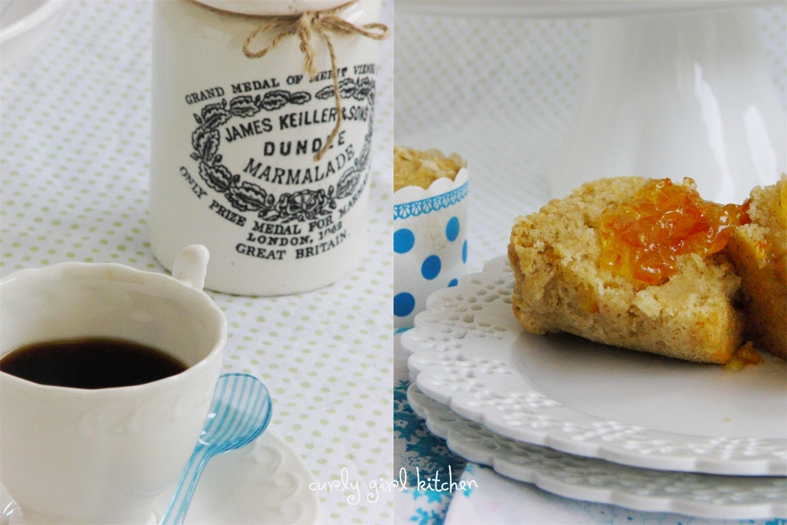 Orange Marmalade Muffins with Brown Sugar Streusel