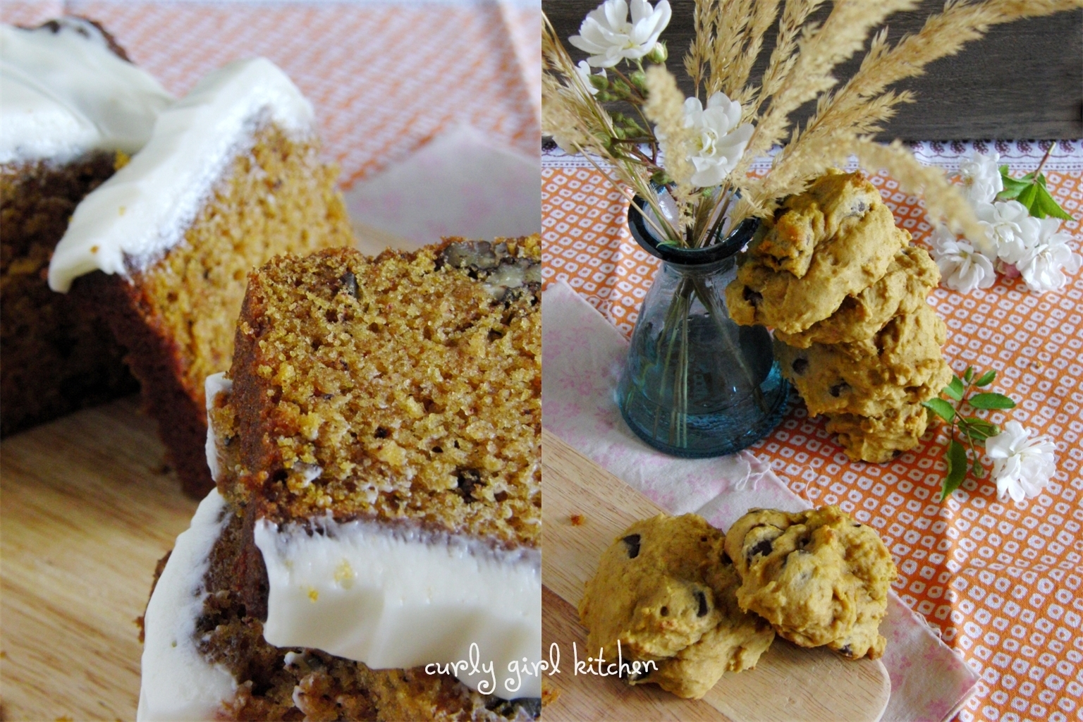 Pumpkin Chocolate Chip Cookies and Pumpkin Bread