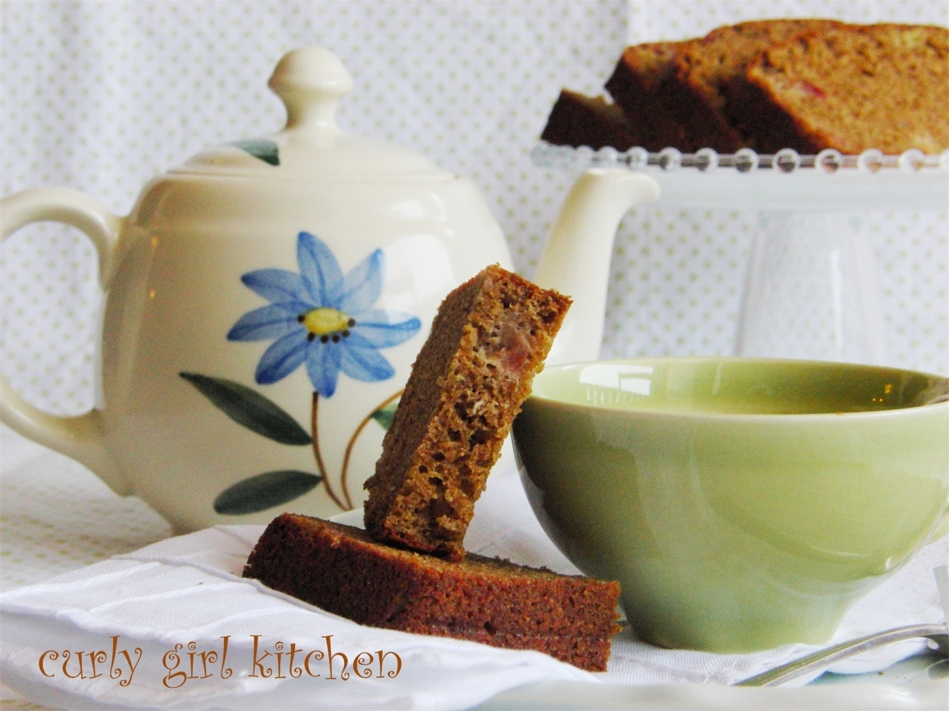 Strawberry Rhubarb Spiced Chai Tea Bread