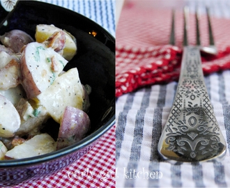 Not Your Mom's Potato Salad...  with Olive Oil, Bacon and Shallots