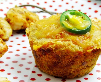 Jalapeno Cheddar Corn Muffins and Tomatoes in the Winter...