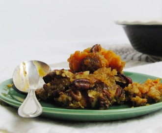 Sweet Potato Casserole and our Thanksgiving Menu