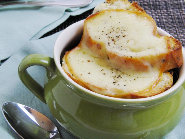 French Onion Soup on a Snowy Day