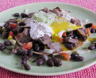 Huevos Rancheros...  or my version of tex-mex style eggs...