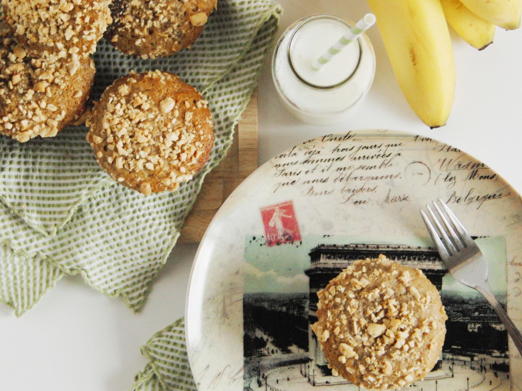 Banana Muffins filled with Peanut Butter and Honey...  and a Day at the Zoo