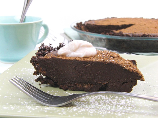 a Time for Chocolate ...  Chocolate Indulgence Sour Cream Pie