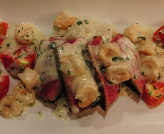 Tenderloin Steak and Creamy Shrimp Surf 'n' Turf
