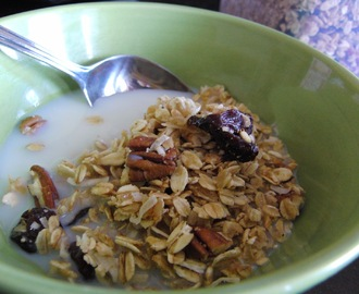 Cherry, Pecan, and Coconut Granola (Low in Added Sugar!)