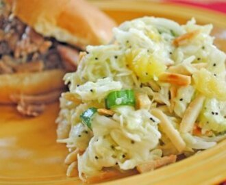 Hawaiian Cole Slaw…and The Case of the Missing Side Dish…