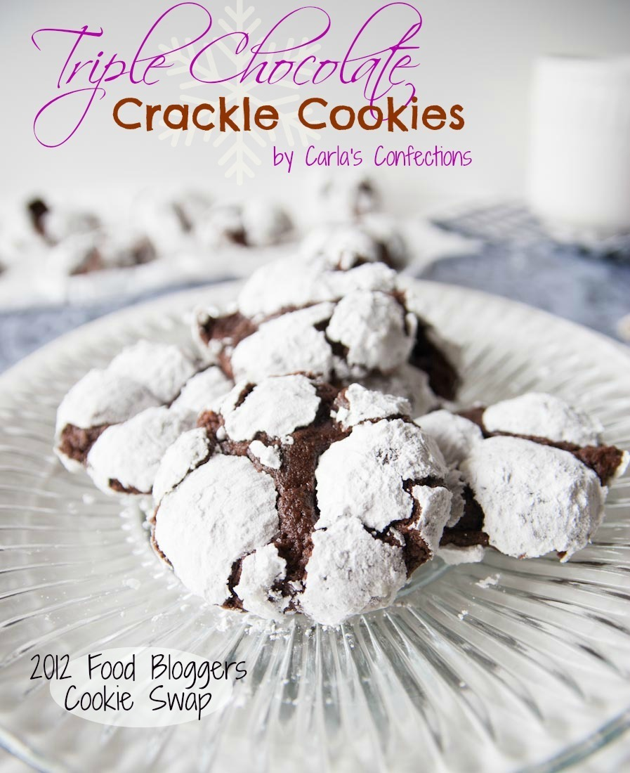 Triple Chocolate Crackle Cookies {FB Cookie Swap}