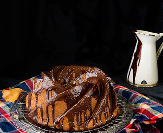 Bundt cake de calabaza, chocolate y Ron.