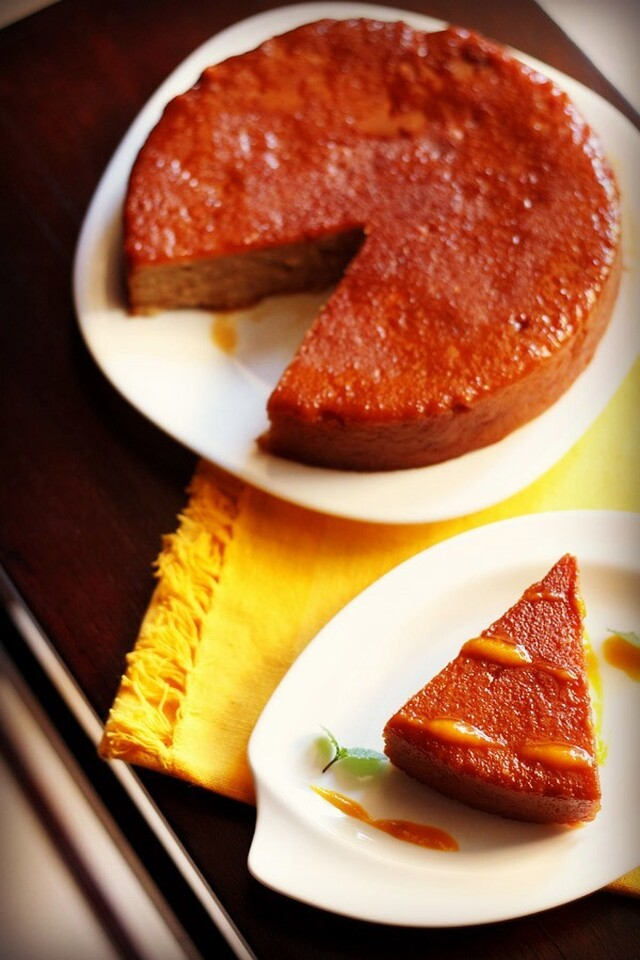 eggless  bread pudding (steamed )