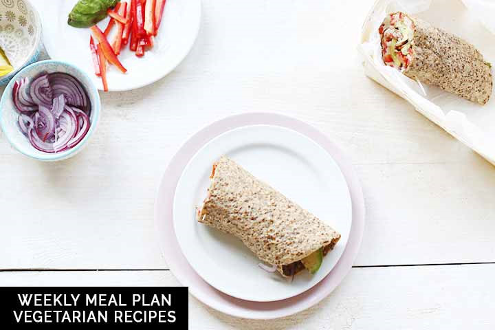 Weekly meal plan: vegetarian recipes