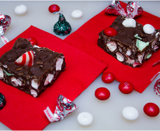 Festive Triple Peppermint Rocky Road