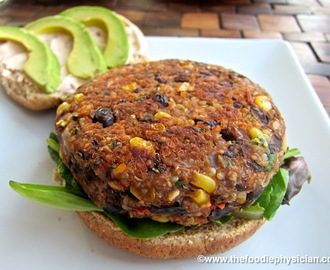 Dining with the Doc: Black Bean & Quinoa Veggie Burgers