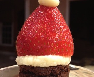 Fancy Santa Hat Brownies