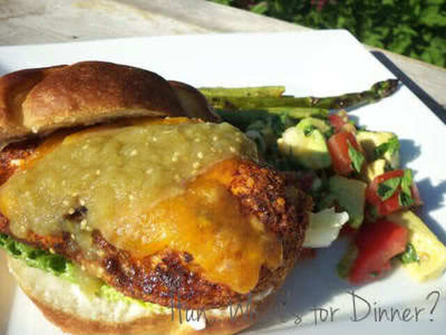 Fiesta Grilled Chicken Sandwiches with Tomato Avocado Salad