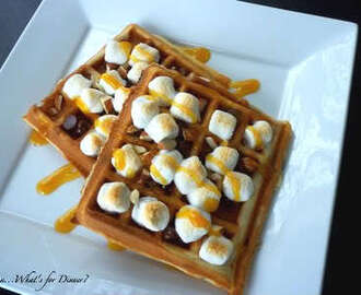 Irish Cream Rocky Road Waffles~ Happy New Year!!