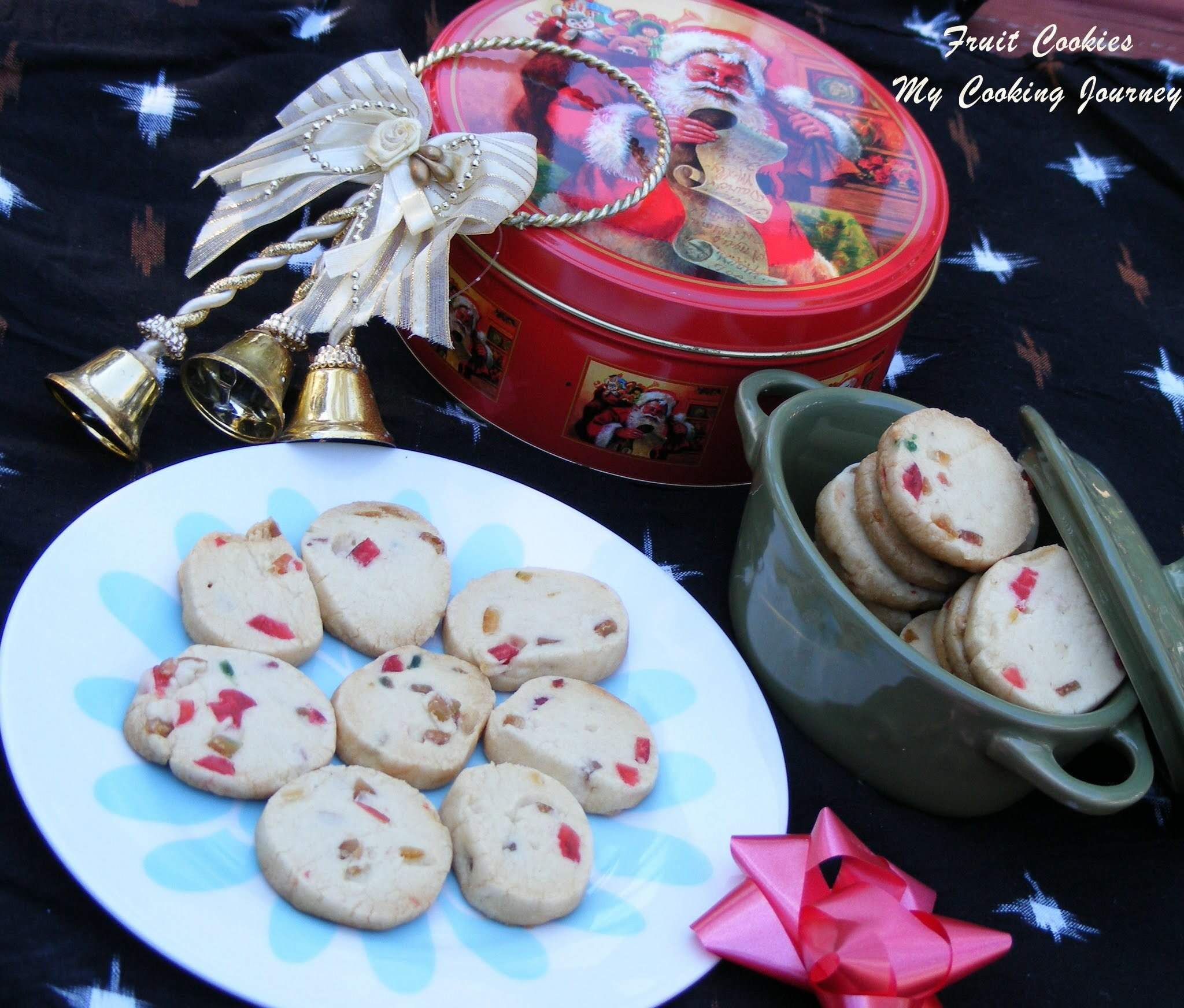 Fruit Cookies/Christmas Fruit Cookies/Tutti Frutti Cookies (Egg less)