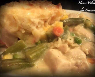 Chicken Pot Pie with Cheddar Biscuit Crust