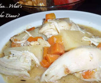 Braised Chicken and Potatoes ( Crock Pot)