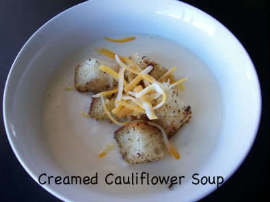 Creamed Cauliflower Soup