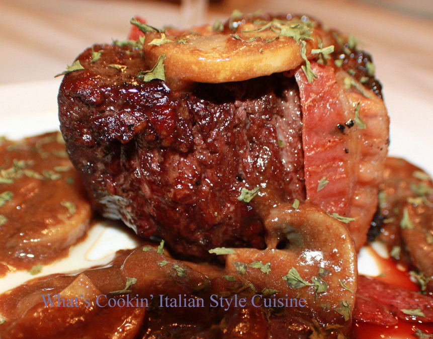 Bacon Wrapped Angus Prime Rib Filet Mushroom Marsala Recipe Using Certified Steaks
