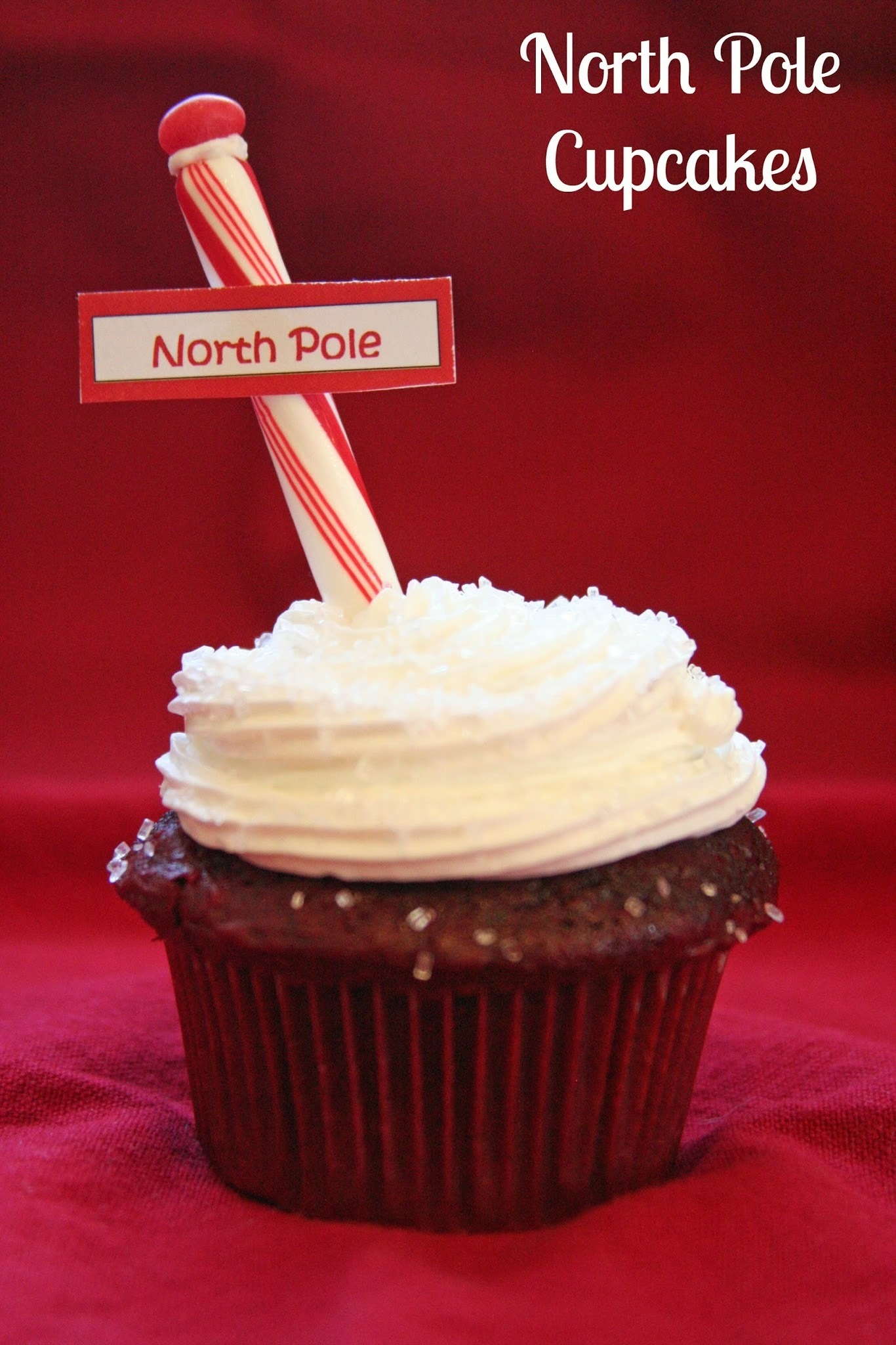 {11th Day of Christmas} North Pole Cupcakes