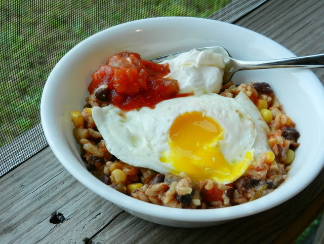 Mexican Rice Bowl with Fried Egg