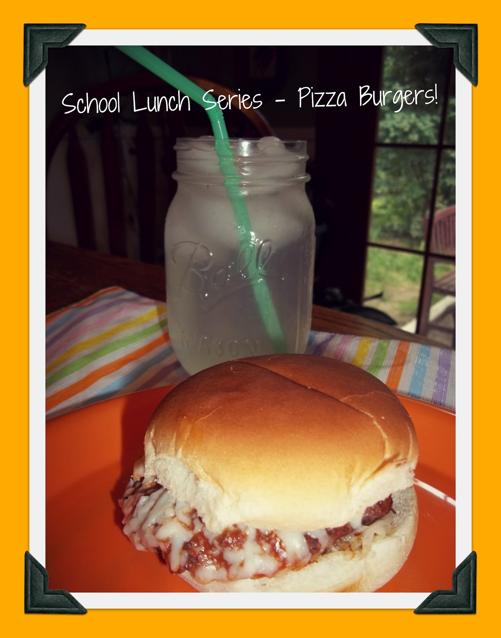 School Lunch Series-Pizza Burgers