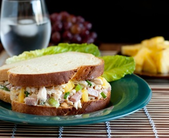 Hawaiian Chicken Salad Sandwiches