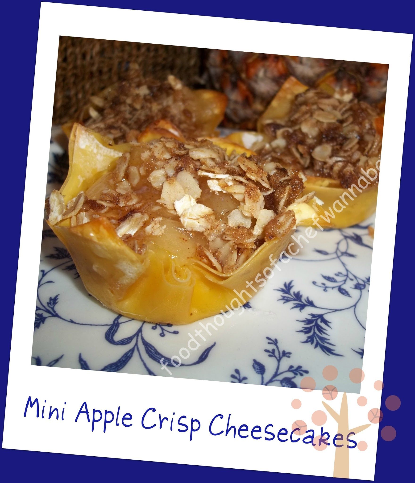 Mini Apple Crisp Cheesecakes