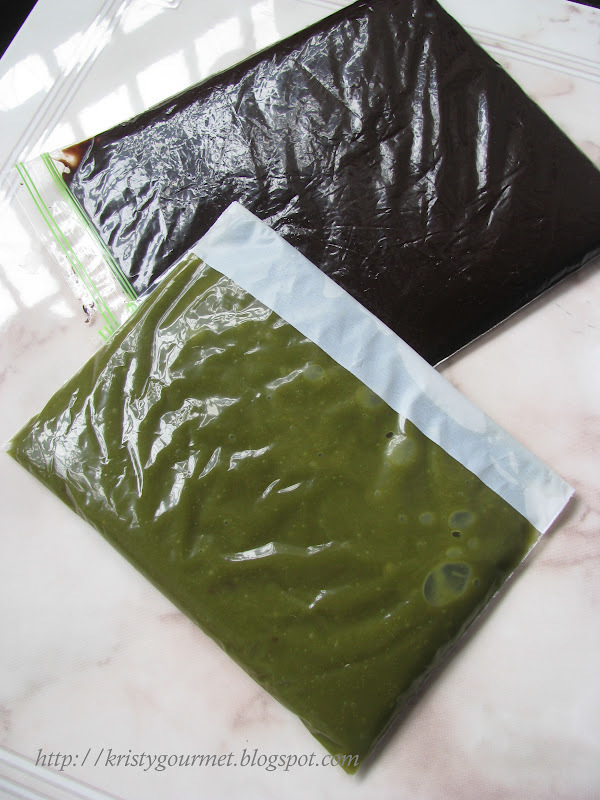 Homemade Chocolate & Green Tea Paste For Wassant Bread