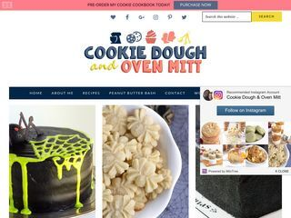 Cookie Dough and Oven Mitt