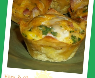 Breakfast- Ham & Cheese Omelette Cups