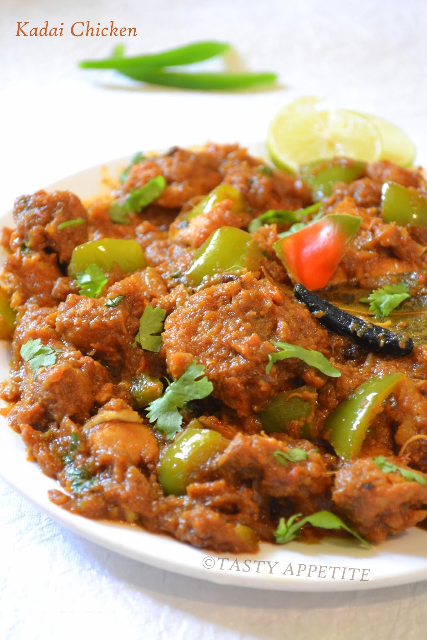 How to make Kadai Chicken / Step by Step :