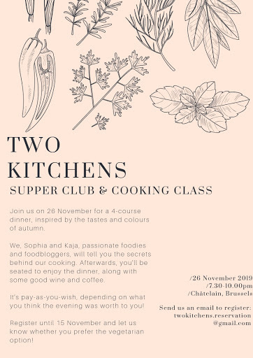 Big News!! Launch of My 'Two Kitchens' Supper Club in Brussels