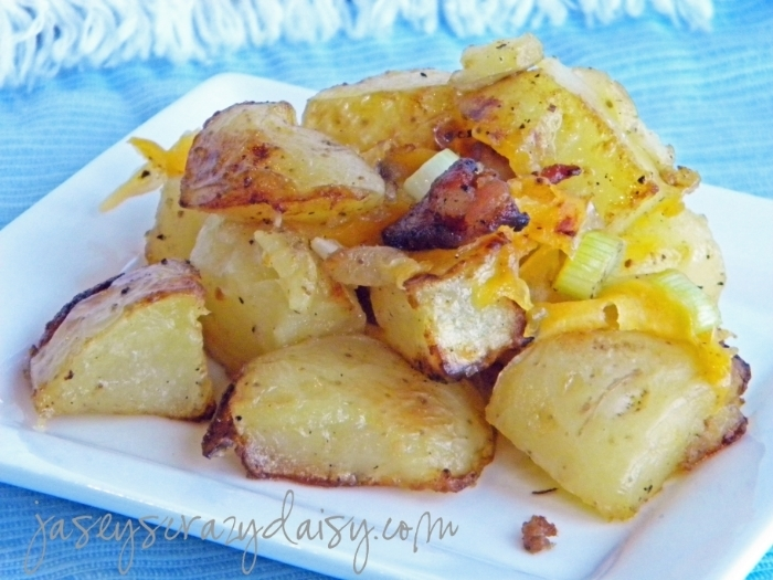 Cheesy Bacon Roasted Potatoes