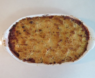 Crumble de Frutas e Chocolate