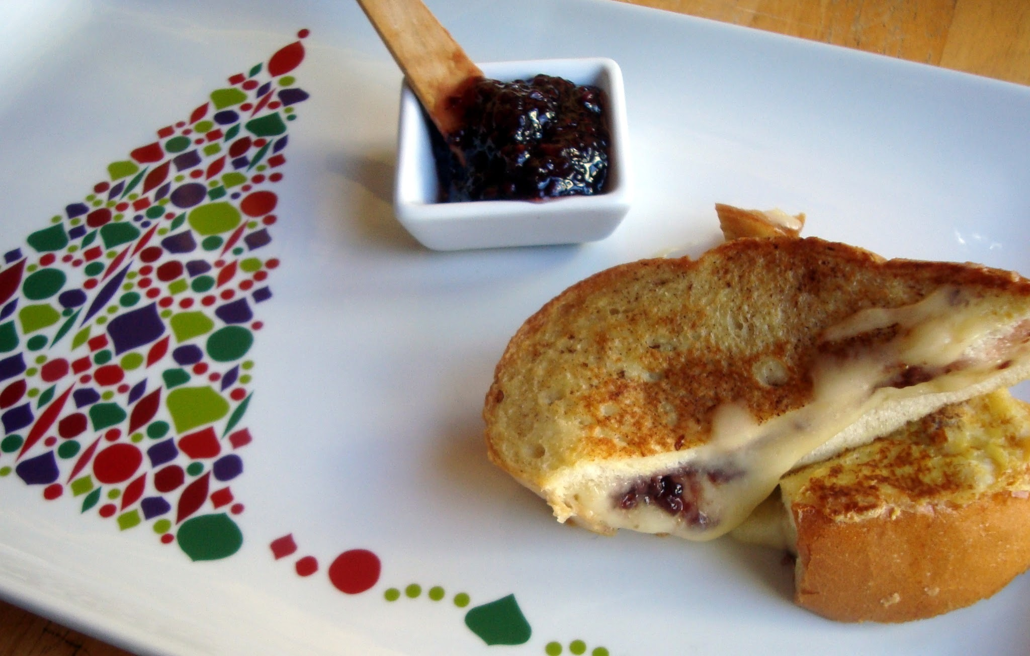 Happy New Year! Happy Bloggaversary! We're celebrating with Brie-Stuffed French Toast!