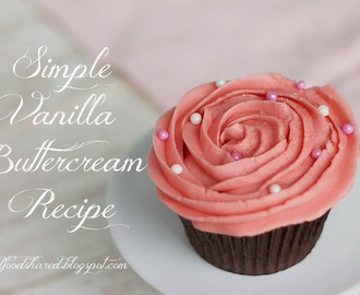 Simple Vanilla Buttercream Recipe