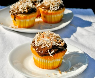 Yellow Butter Cupcakes with Double Chocolate Coconut Frosting