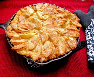 German Apple Custard Pancake