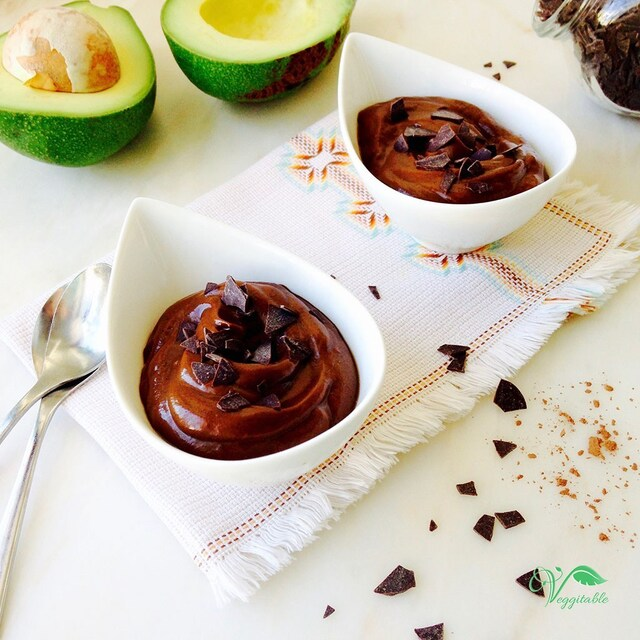 Mousse de Abacate com Chocolate